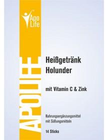 ApoLife Vitamin C Heissgetränk Holunder 14 Stk.