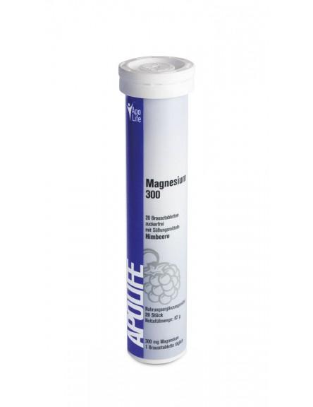 ApoLife Magnesium Brausetabletten Himbeere 20 Stk.