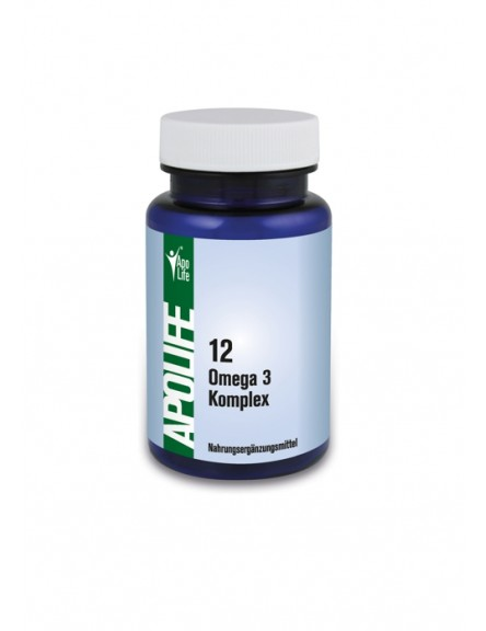 ApoLife 12 Omega-3 Weichgelatine Kapseln 120 Stück