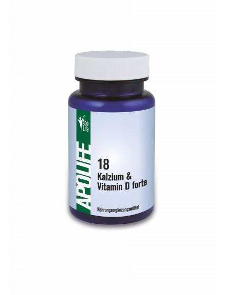 ApoLife 18 Calcium Vitamin D Forte Kapseln 60 Stk.