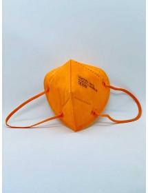 Mund Schutzmaske FFP2 Orange 1 Stück